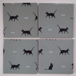 4 Ceramic Coasters in Sophie Allport Mini Cats